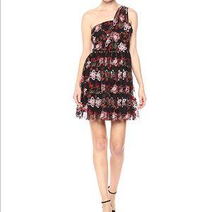 BCBG One Shoulder Tulle Dress